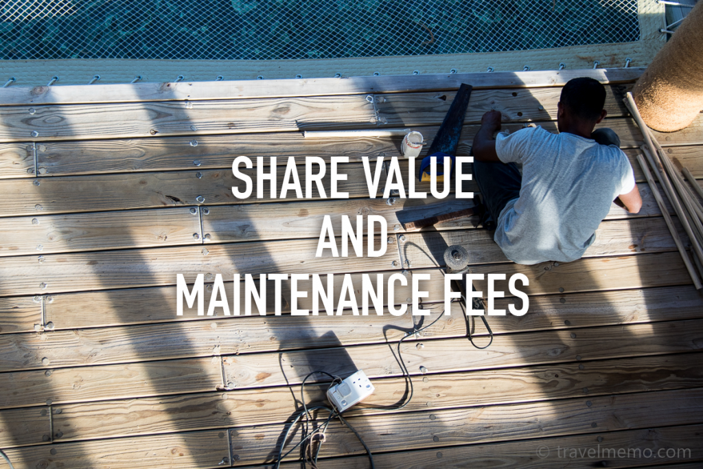 Share Value and Maintenance Fees