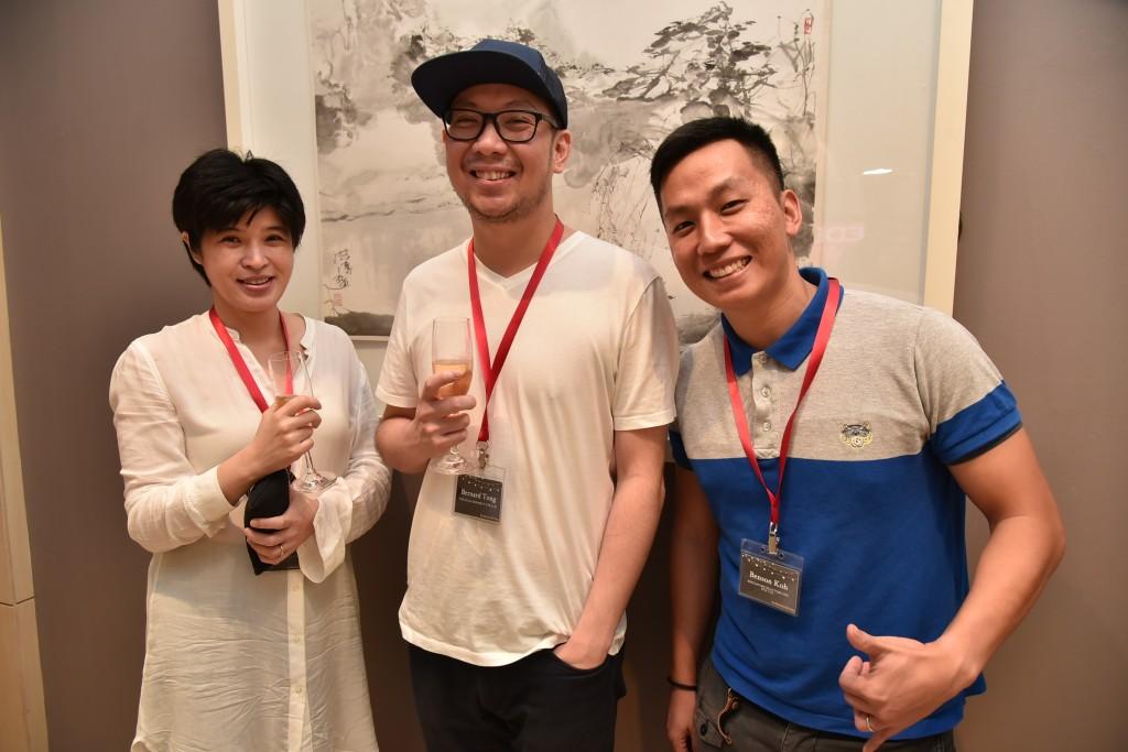 (L-R): Cecilia Chow (Editor, City & Country, The Edge), Bernard Tong, (Managing Director, The Edge), Benson Koh (Managing Partner, SRI)